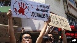 En todo el mundo se producen reclamos para que se detenga la violencia contra los periodistas.