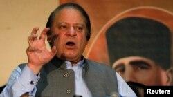 Perdana Menteri Pakistan Nawaz Sharif pada sebuah seminar di Lahore. (Foto: Dok)