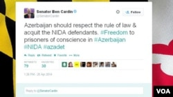 Senator Bencamin Kardinin Twitter səhifəsi