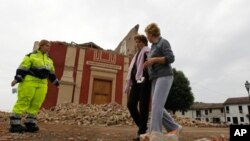Tâm chấn nằm cách thành phố Bologna khoanog 35 km về hướng Bắc-Tây Bắc, và động đất xảy ra ở độ sâu 5 km.