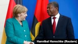 Angela Merkel e João Lourenço, em Berlim, em 2018