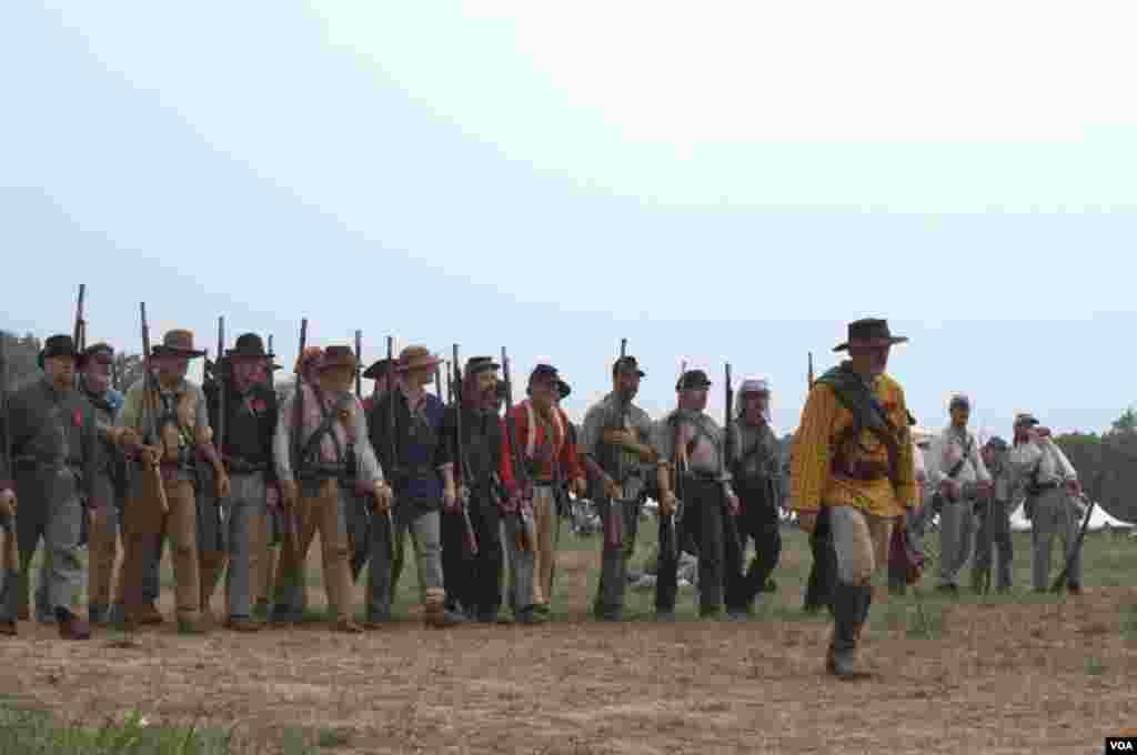 Атака южан в битве при Булл-Ране