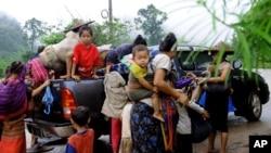 Những người tị nạn sắc tộc Karen ở Thái Lan.