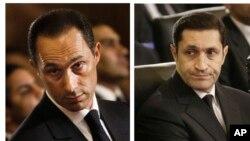 علاء مبارک (راست) و جمال مبارک (چپ)