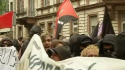 Protesters Clash for Second Day in Frankfurt