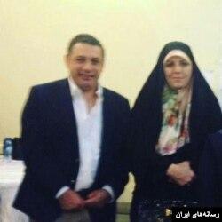 عکسی که رسانه های ایران از زاکا به همراه خانم ملاوردی معاون حسن روحانی منتشر کرده اند.