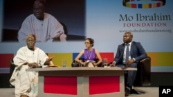 FILE - A session of the forum 'African Youth: Fulfilling the Potential' hosted by the Mo Ibrahim Foundation in Dakar, Senegal.