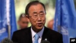 Sekjen PBB Ban Ki-moon menjadi tuan rumah pertemuan para pemimpin keuangan dan politik regional di Addis Ababa, Ethiopia Senin 27/10 (foto: dok).