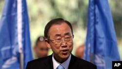 بان کی مون تصريح کرد که فلسطينی ها، با وجود جدايی کرانه باختری رود اردن و نوار غزه، ملت واحدی هستند.