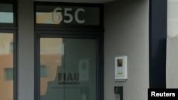 FILE - The office of Malta's Financial Intelligence Analysis Unit (FIAU), an anti-money laundering agency, is seen in Birkirkara, Malta, Oct. 28, 2017.