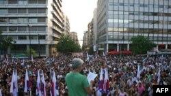 Yunanistan'da Protestolar Devam Ediyor
