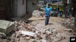 地震過後民房遭到損毀