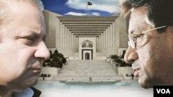 PM Pakistan Nawaz Sharif (kiri) memerintahkan penyelidikan makar terhadap mantan Presiden Jenderal Pervez Musharraf (foto: dok).