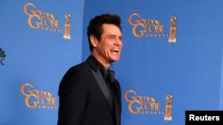 Jim Carrey tiba di acara Golden Globe Awards di Beverly Hills, California. (Foto: Dok)