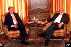 克里在伊朗驻联合国代表官邸与伊朗外长会谈