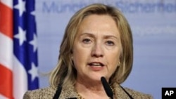 Hillary Clinton, US Secretary of State, in Germany, February 5, 2011.