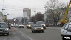 秋季的叶卡捷琳堡市中心。(美国之音白桦拍摄)