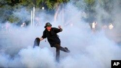 Hình ảnh một cuộc biểu tình ở Mỹ hôm 1/6.