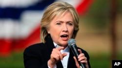 민주당의 힐러리 클린턴 대선 후보. (자료사진)