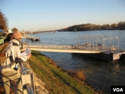 流经斯洛伐克首都布拉迪斯拉发的多瑙河。