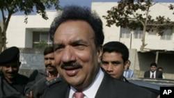 Pakistani Interior Minister Rehman Malik (file photo)