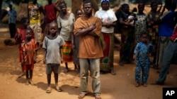 Réfugiés à Kaga-Bandoro en Centrafrique le 16 février 2016.