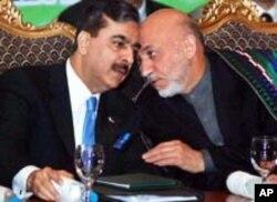 افغان صدر کرزئی اور پاکستانی وزیراعظم گیلانی (فائل فوٹو)