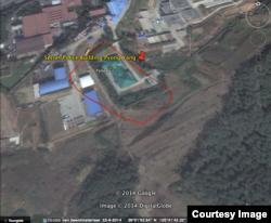 북한에 구금되었다 풀려난 빌렘 판 데어 베일 씨가 구글 위성지도에서 북한의 외국인 구금시설 위치를 찾아 표시했다.