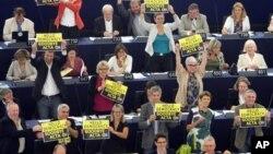 Zeleni protestuju protiv ACTA zakona u Evropskom parlamentu