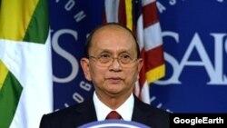 Ông Thein Sein là vị nguyên thủ quốc gia đầu tiên của Miến Điện đến thăm Hoa Kỳ trong gần 50 năm .