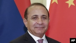 FILE - A former parliamentary speaker and an economist by training, Hovik Abrahamyan was appointed Armenia's prime minister two years ago. In 2015, Armenia's economy started to deteriorate.