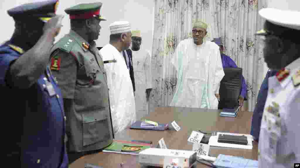 Shugaba Muhammadu Buhari, ranar 2 ga watan Yuni 2015.