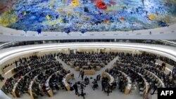 Một phiên họp của Hội đồng Nhân quyền LHQ tại Geneva.
