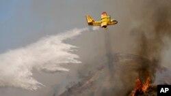 Un hidroplano similar al que se estrelló a la entrada del Parque Nacional Yosemite.