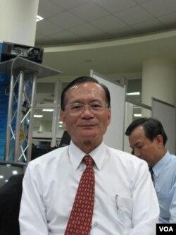 台湾海巡署署长王进旺 (美国之音申华拍摄)