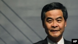 Hong Kong's Chief Executive Leung Chun-ying in December 2012 photo