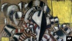 یکی از آثار مشهور فرنان لژه با نام «سیگاری» که در سال ۱۹۱۴ خلق شده. (عکس از موزه متروپولیتن نیویورک)