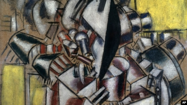 "This undated photo provided by the Metropolitan Museum of Art in New York shows Fernand Léger's 1914 ""Le fumeur (The Smoker),"" which is one of the paintings in the collection of Leonard Lauder he has donated to the museum."