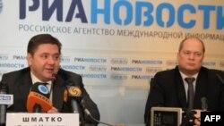 Министр энергетики России Сергей Шматко и генеральный секретарь ФСЭГ Леонид Бохановский