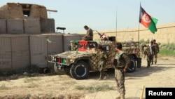 阿富汗国民军(ANA)的士兵。