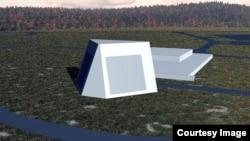 미국이 알래스카에 배치할 최신형 장거리식별레이더(LRDR) 조감도. (록히드 마틴 제공)