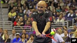Eight-time Grand Slam singles champion Andre Agassi will join fellow American legends Pete Sampras, Jimmy Connors, John McEnroe and Michael Chang (file photo).
