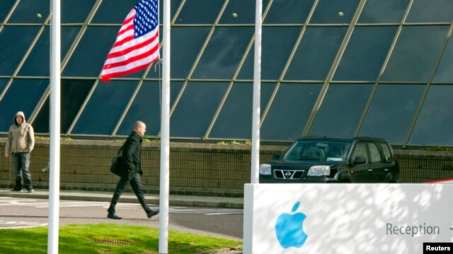 Apple Operations International, a subsidiary of Apple Inc, is seen in Hollyhill, Cork, in the south of Ireland in this Oct. 6, 2011 file photo.