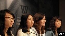 中国环境正义人士 左起:陈岭、仲卉、王晶晶、俞金香