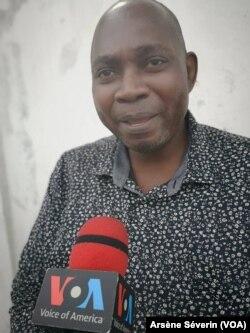 Maixent Animbat, président du Forum pour la gouvernance et les Droits de l'homme, à Brazzaville, 28 mars 2019. (VOA/Arsène Séverin)