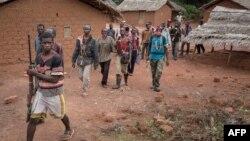 Basimba minduki Antibalaka na paroisse de Gambo, na sud-est de la Centrafrique,16 août 2017