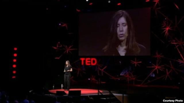 인터넷에 올라온 미국 테드(TED) 강연 장면. (자료사진)