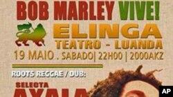 Cartaz do espectáculo de homenagem a Bob Marley