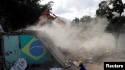 Demolições na Vila Autódromo no Rio de Janeiro