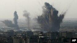 غزہ کی پٹی پر اسرائیل کی گولہ باری